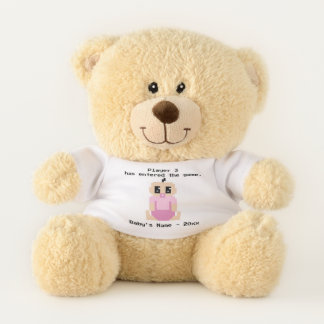 Player 3 Baby Video Game Name Teddy Bear