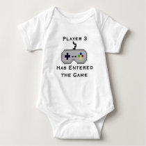Player 3 Has Entered the Game Creeper Shirt - Gray