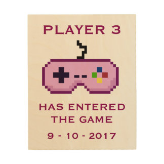 Player 3 Has Entered the Game Geek Pink Wall Art