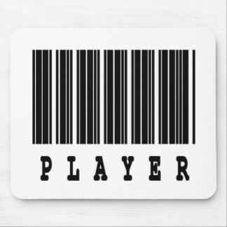 player barcode design mouse pad