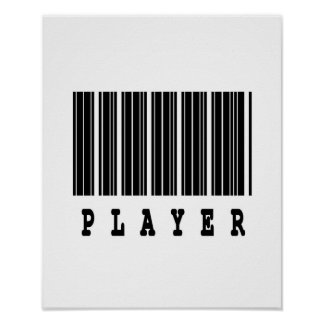 player barcode design poster
