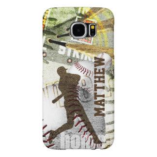 Player Batting Bottom of the 9th Baseball Samsung Galaxy S6 Case