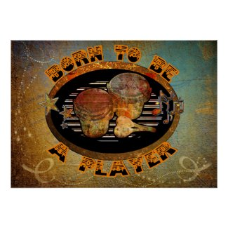 Player Bongo Drums ID281 Poster