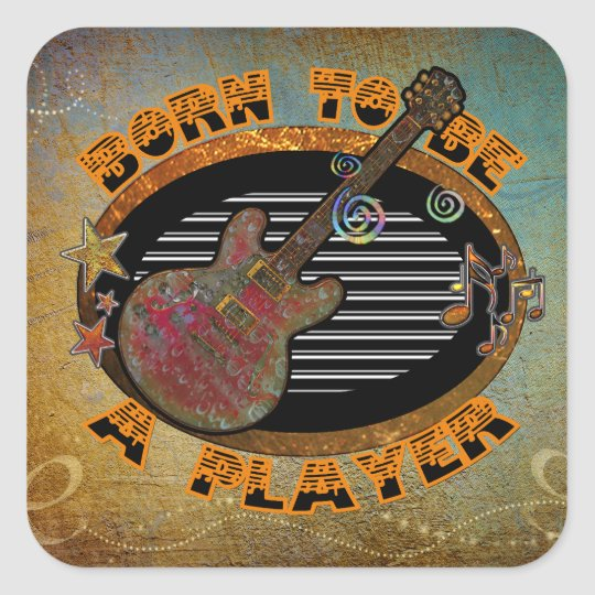 Player Electric Guitar ID281 Square Sticker