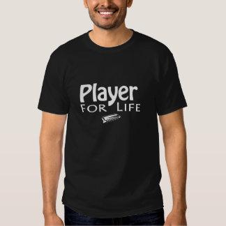 """Player for Life"" Harmonica Black T Tee Shirt"