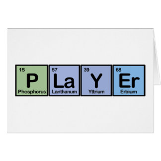 Player made of Elements Cards