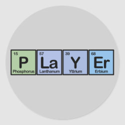 Player Round Sticker