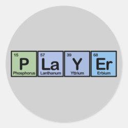 Round Sticker with Player design