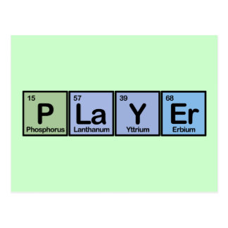 Player made of Elements Postcards
