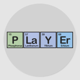 Player made of Elements Classic Round Sticker