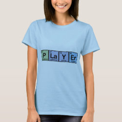 Women's Basic T-Shirt with Player design