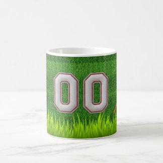 Player Number 00 - Cool Baseball Stitches Coffee Mug