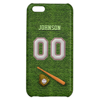 Player Number 00 - Cool Baseball Stitches iPhone 5C Case