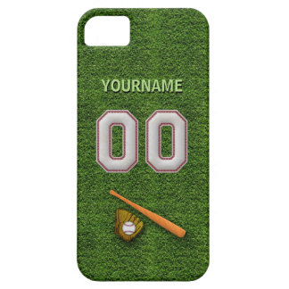 Player Number 00 - Cool Baseball Stitches iPhone SE/5/5s Case