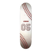 Player Number 05 - Cool Baseball Stitches Skateboard