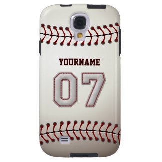 Player Number 07 - Cool Baseball Stitches Look Galaxy S4 Case