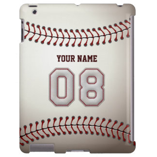 Player Number 08 - Cool Baseball Stitches Look