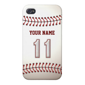 Player Number 11 - Cool Baseball Stitches iPhone 4/4S Cover