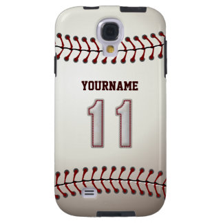 Player Number 11 - Cool Baseball Stitches Look Galaxy S4 Case