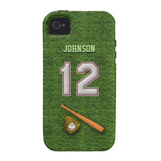Player Number 12 - Cool Baseball Stitches iPhone 4/4S Covers