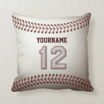 Player Number 12 - Cool Baseball Stitches Pillow