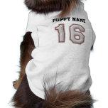 Player Number 16 - Cool Baseball Stitches Dog T Shirt