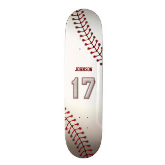 Player Number 17 - Cool Baseball Stitches Skateboard Deck