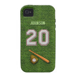 Player Number 20 - Cool Baseball Stitches Case-Mate iPhone 4 Cases