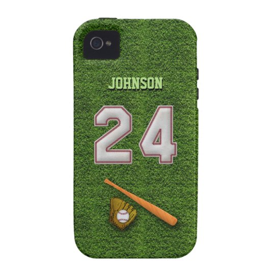 Player Number 24 - Cool Baseball Stitches iPhone 4/4S Cover