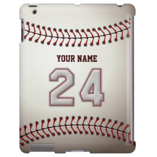 Player Number 24 - Cool Baseball Stitches Look