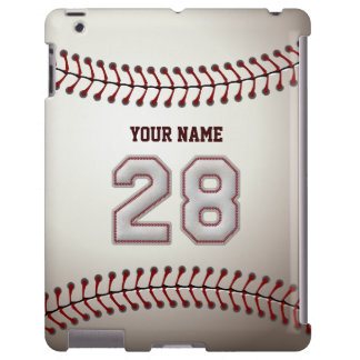 Player Number 28 - Cool Baseball Stitches Look