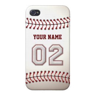 Player Number 2 - Cool Baseball Stitches iPhone 4 Cases