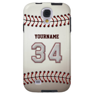 Player Number 34 - Cool Baseball Stitches Look Galaxy S4 Case