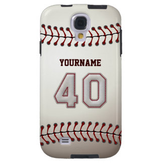 Player Number 40 - Cool Baseball Stitches Look Galaxy S4 Case