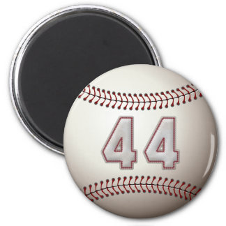 Player Number 44 - Cool Baseball Stitches 2 Inch Round Magnet