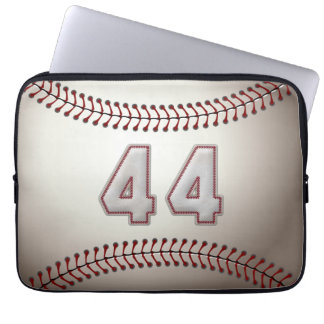 Player Number 44 - Cool Baseball Stitches Laptop Sleeves