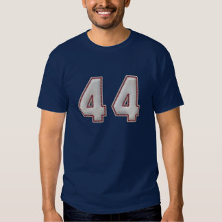 Player Number 44 - Cool Baseball Stitches T Shirt