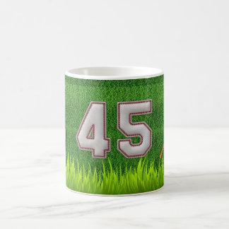 Player Number 45 - Cool Baseball Stitches Coffee Mug