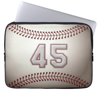 Player Number 45 - Cool Baseball Stitches Laptop Sleeve