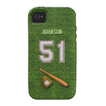 Player Number 51 - Cool Baseball Stitches Vibe iPhone 4 Cases
