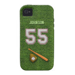 Player Number 55 - Cool Baseball Stitches iPhone 4 Cover
