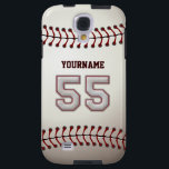 "Player Number 55 - Cool Baseball Stitches Look Galaxy S4 Case<br><div class=""desc"">This unique design and number are specially created to imitate Baseball Stitches Look.</div>"
