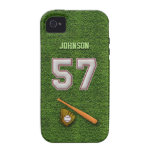 Player Number 57 - Cool Baseball Stitches iPhone 4/4S Cover