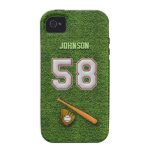 Player Number 58 - Cool Baseball Stitches iPhone 4/4S Covers