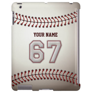 Player Number 67 - Cool Baseball Stitches Look