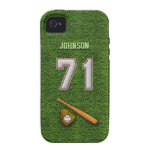 Player Number 71 - Cool Baseball Stitches iPhone 4/4S Cover