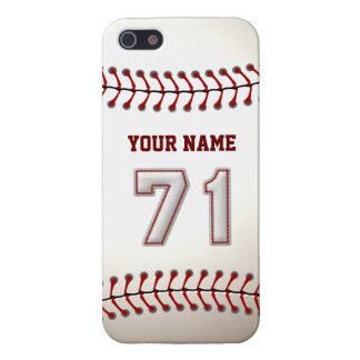 Player Number 71 - Cool Baseball Stitches Case For iPhone SE/5/5s