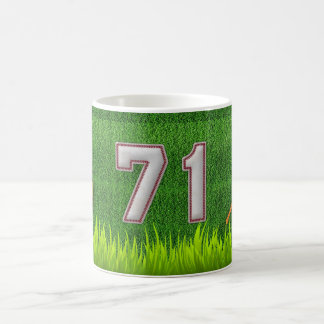 Player Number 71 - Cool Baseball Stitches Coffee Mug