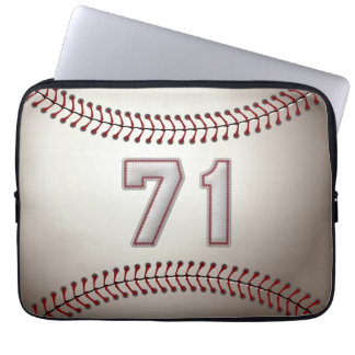 Player Number 71 - Cool Baseball Stitches Computer Sleeves