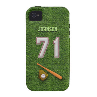 Player Number 71 - Cool Baseball Stitches iPhone 4/4S Case